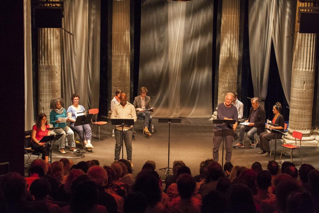 Lecture de Si l'amour n'était pas de Thierry Beucher par les comédiens du collectif