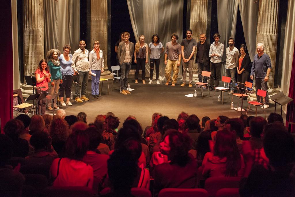 Lecture de Si l'amour n'était pas de Thierry Beucher par les comédiens du collectif en présence des élèves du conservatoire de Grenoble
